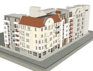 3D-Modell Straßenansicht