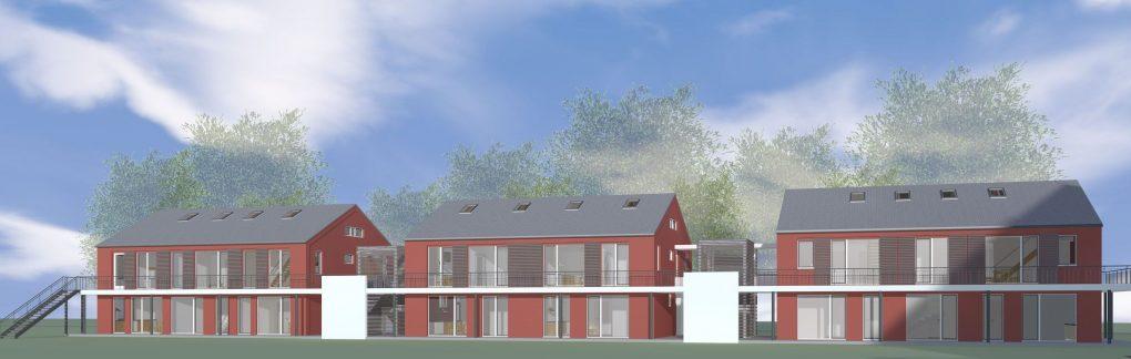 Neubau – Visualisierung Hofseite
