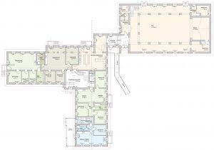 Gemeinschaftshaus – Grundriss Erdgeschoss